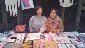 Ayu Dila Martina (kiri) dan Marishka Soekarna (kanan)