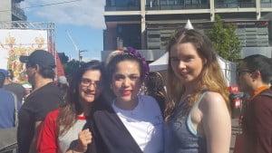 Emelie, Yana, Sylvia (Kiri ke kanan)